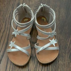 Other - Cynthia Rowell Silver Gladiator Sandals